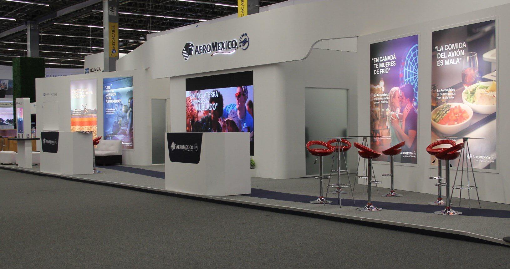 Stand AeroMéxico Proyed Soluciones